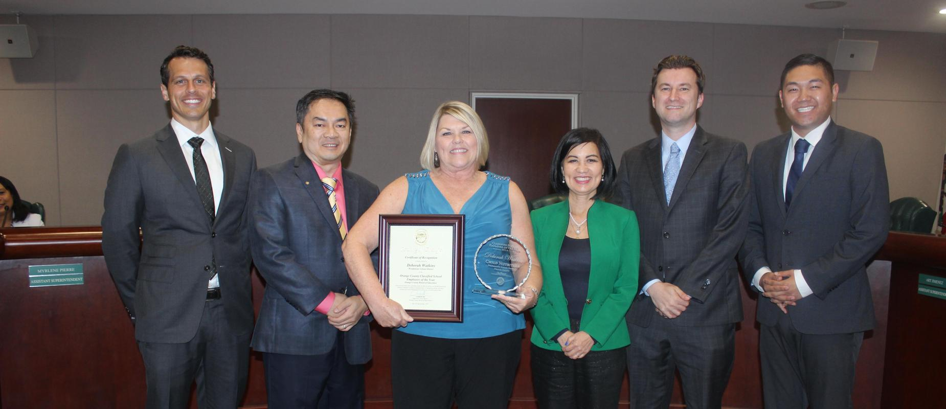 Debbie Watkins California Classified School Employee of the Year
