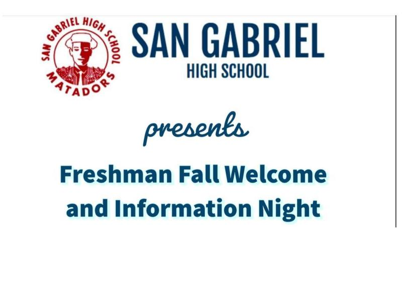 Freshman Fall Welcome and Information Night Featured Photo