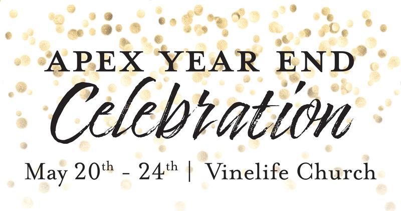 confetti with a celebration announcement