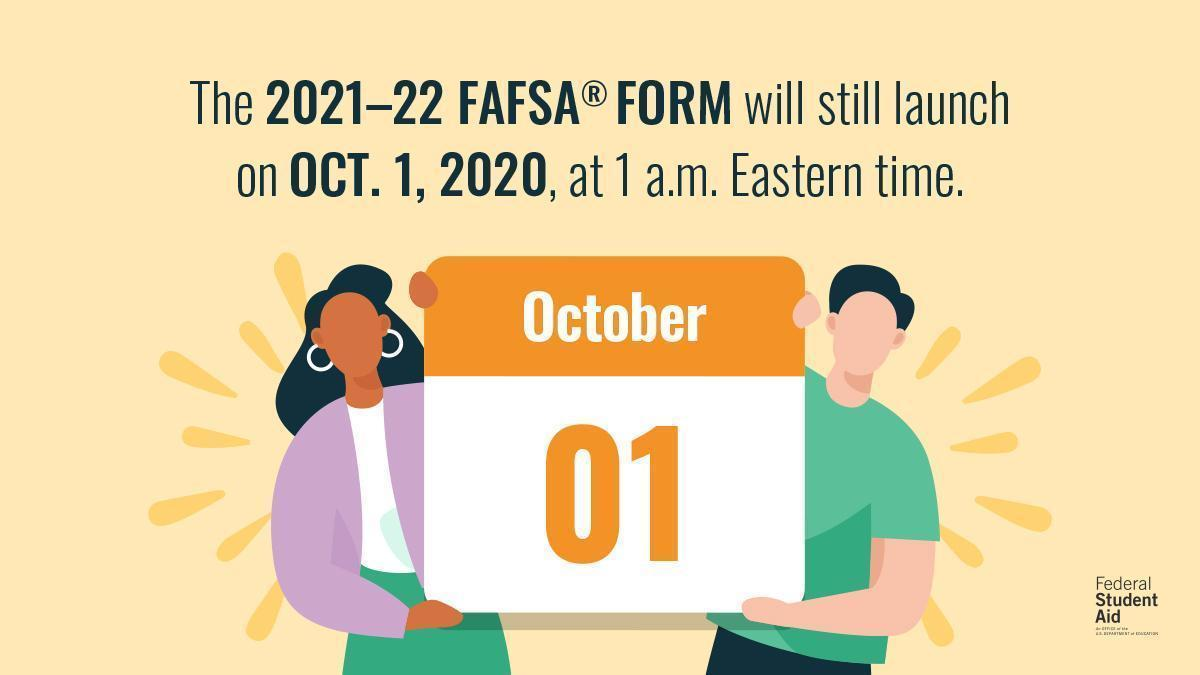FAFSA launches Oct 1
