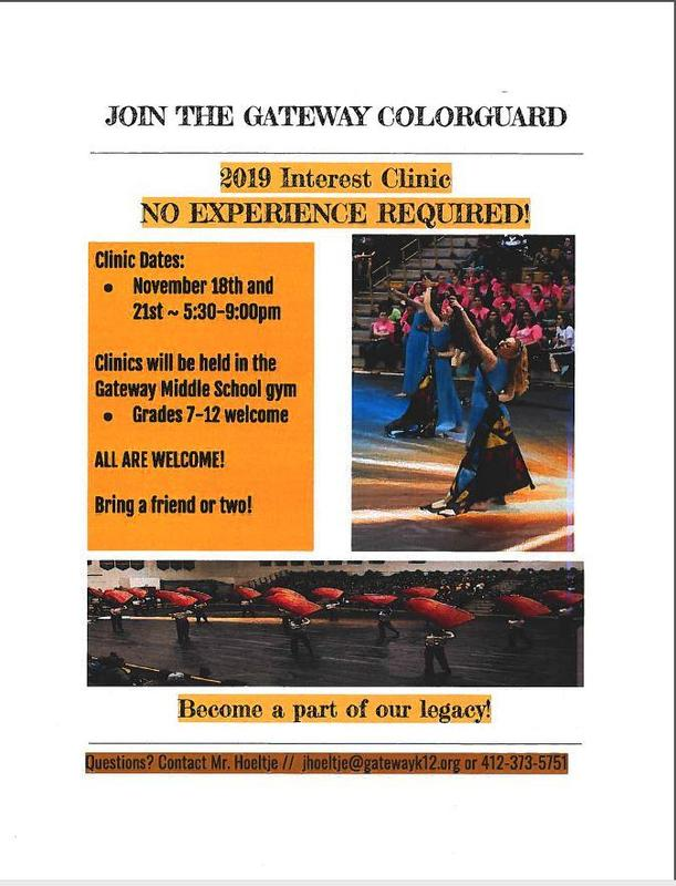 Join the Gateway Colorguard - all are welcome