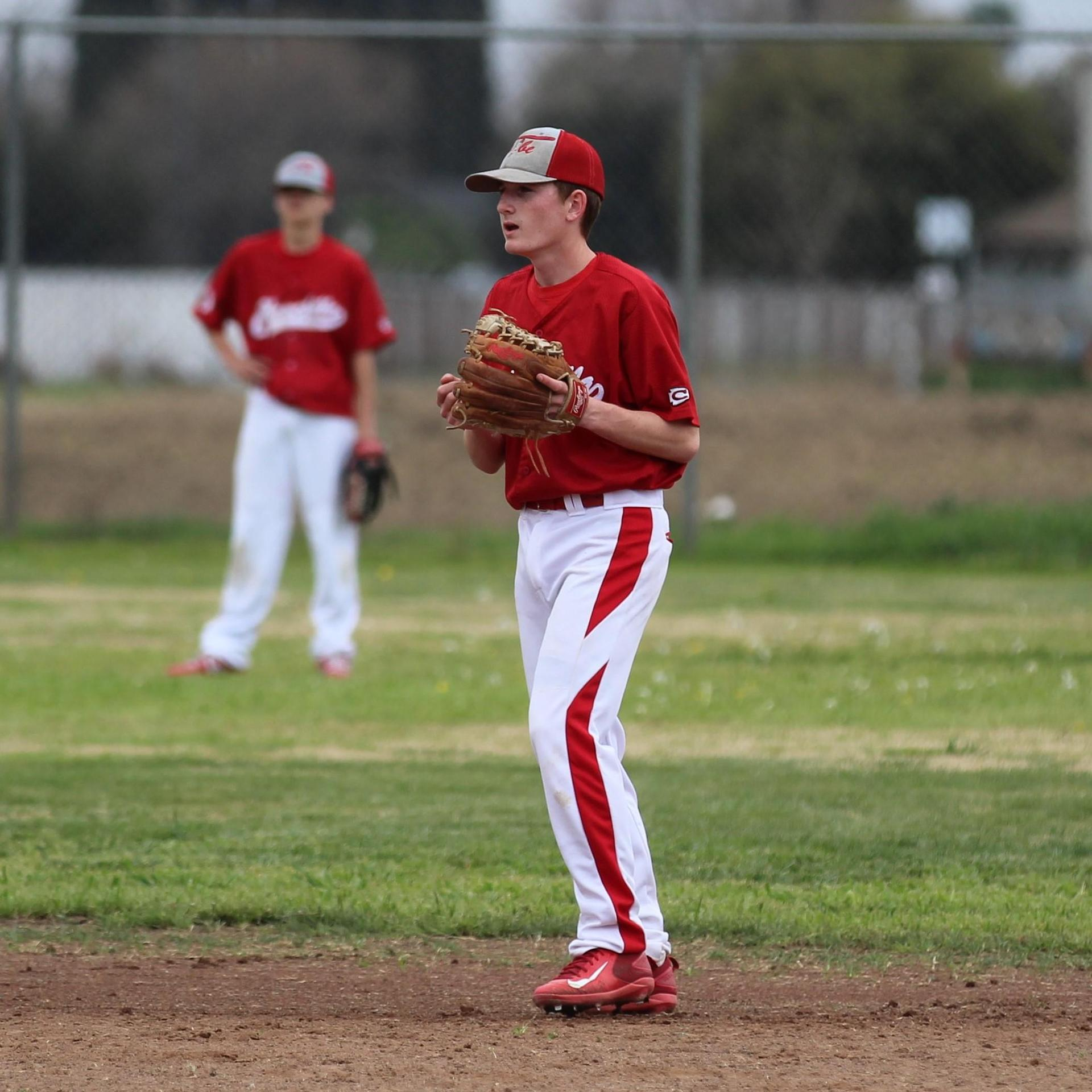 JV boys playing baseball against Madera South
