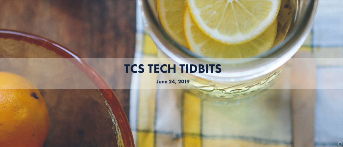 TCS Tech Tidbits Banner