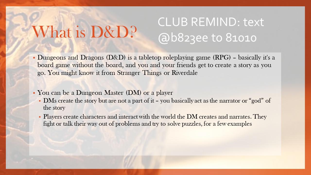 D&D intro