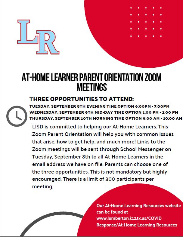 At-Home Learner Flyer