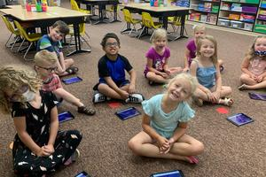 Students at summer learning camp