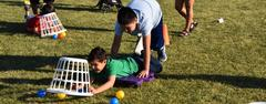 Human Hungry Hippo was among many life-size games played at WSISD's 1st ever Family Game Challenge on April 24.
