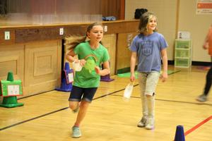 students running in p.e.