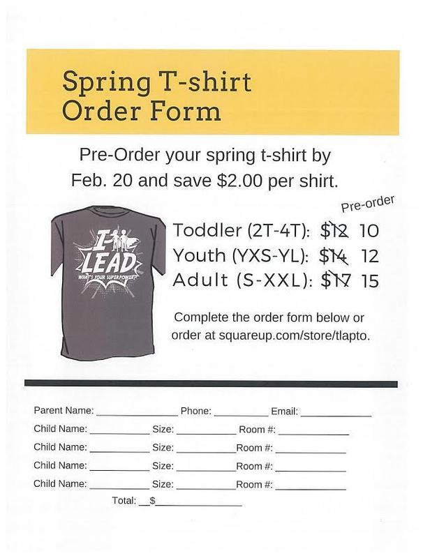 Spring T-shirt Order Form Featured Photo
