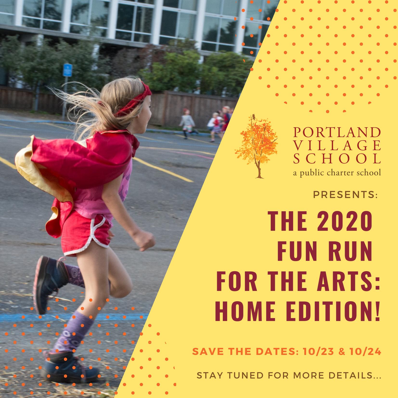 Fun Run for the Arts: Home Edition