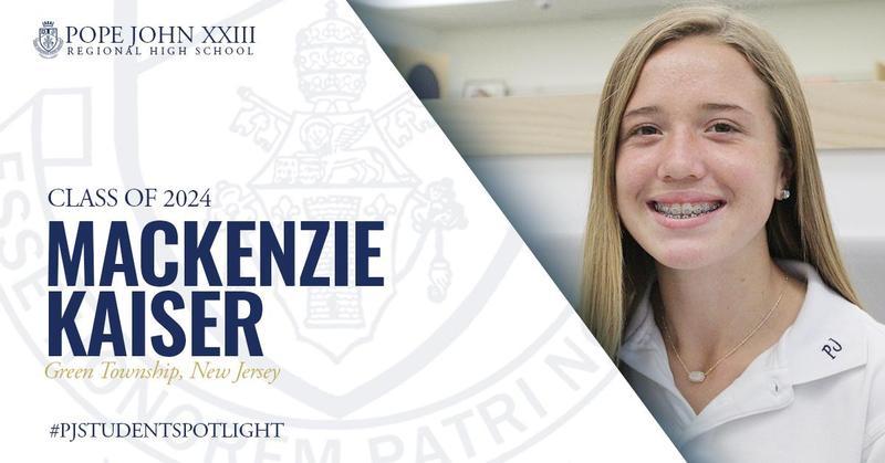 Mackenzie Kaiser Pope John Student Spotlight