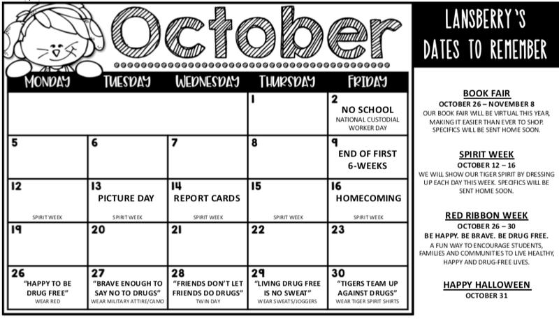 October Calendar Thumbnail Image