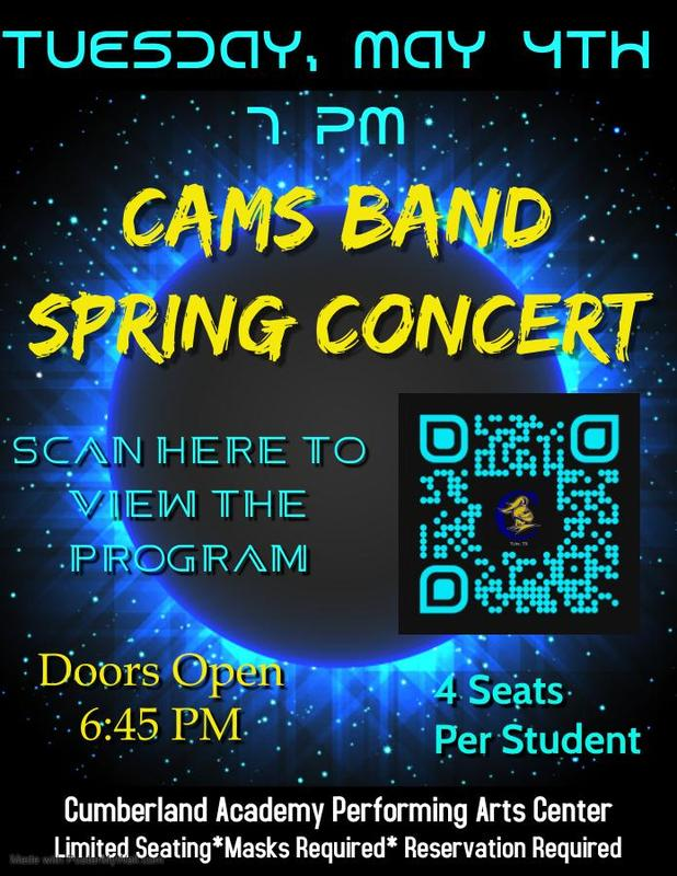 CAMS Band Spring Concert Featured Photo