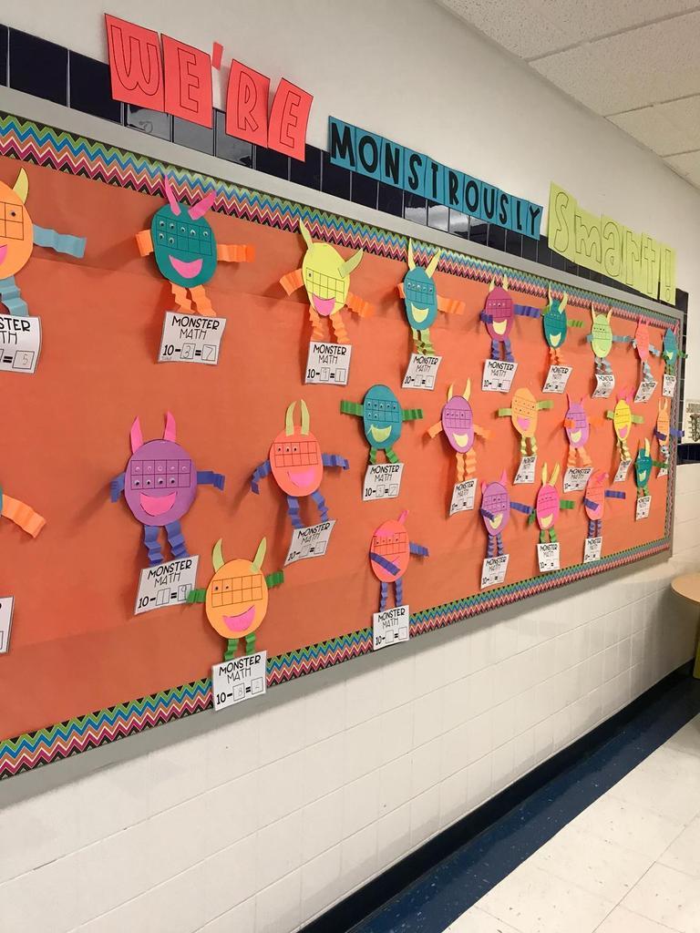 Monster Math bulletin boards