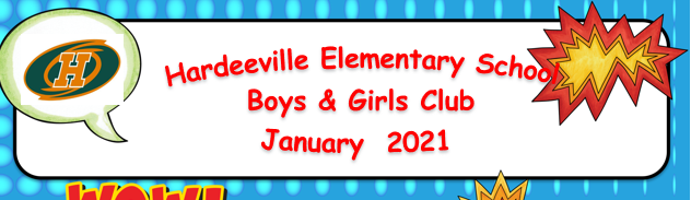Boys and Girls Club Newsletter for January 2021 Featured Photo