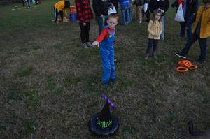 Students played games at the fall festival.
