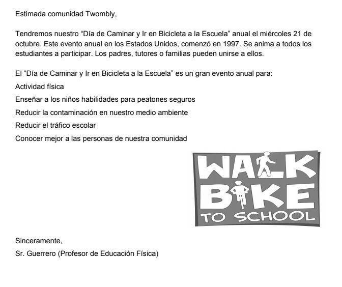 Twombly Walk/Bike to School