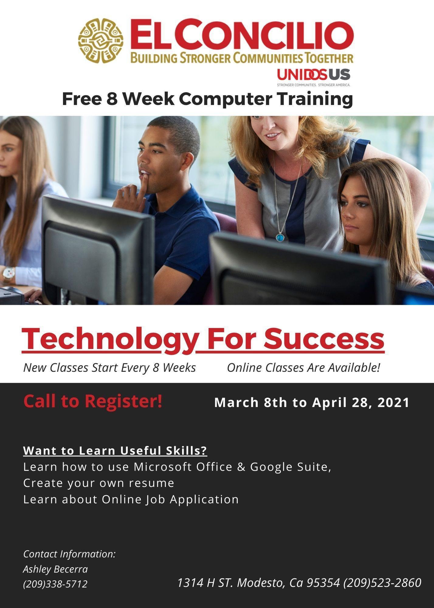 Free 8 Week Computer Training
