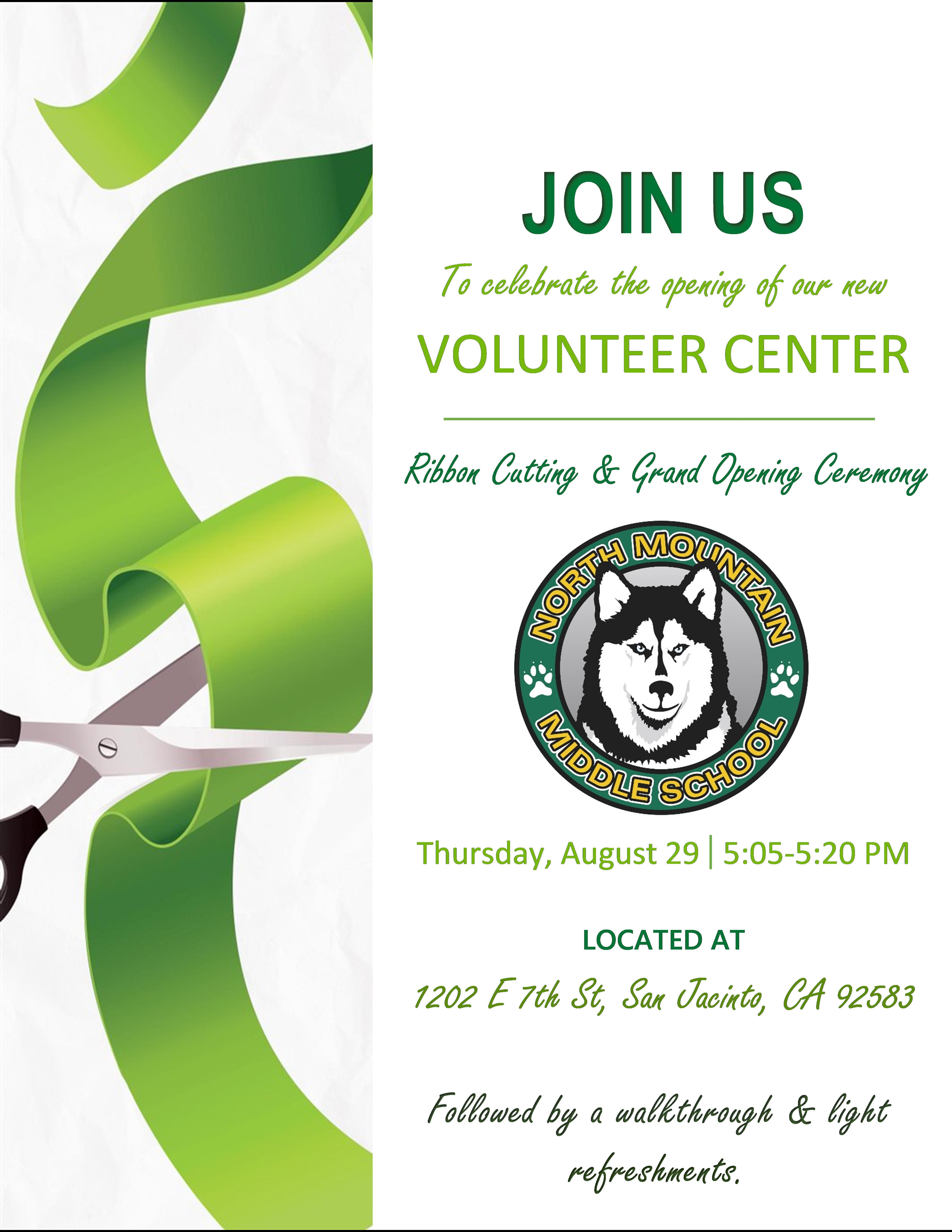 NMMS Volunteer Center GRAND OPENING!