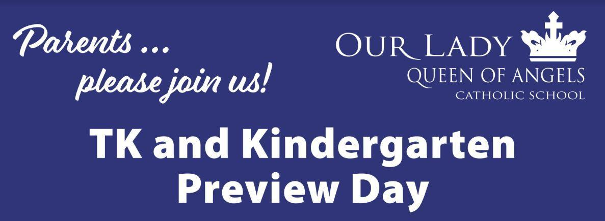 TK and Kinder Preview Day