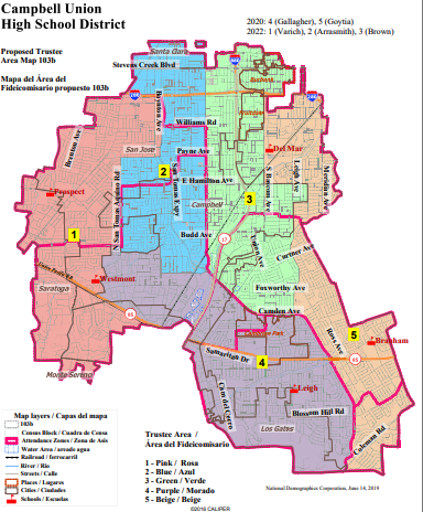 proposed trustee area map 103b