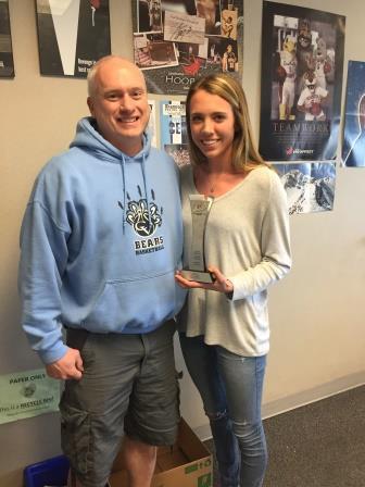 Lexie Hall wins award