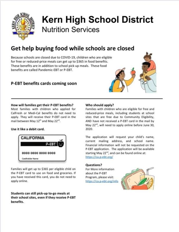 Pandemic-EBT or P-EBT cards can help families who qualify purchase $365 in food.