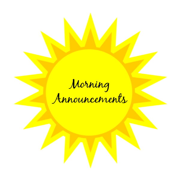 Image result for morning announcements logo
