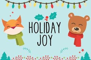 holiday joy with decorations