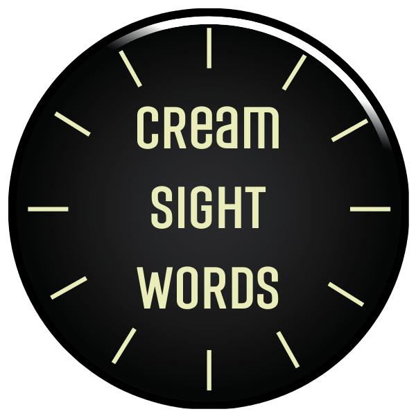 Cream Sight Words