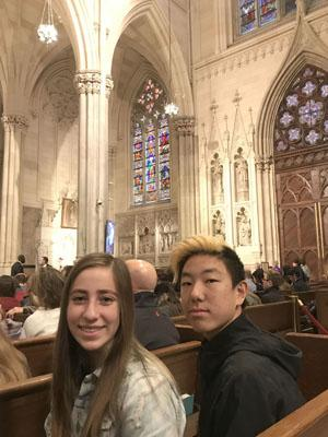 Students attended Mass at St. Patrick's Cathedral.