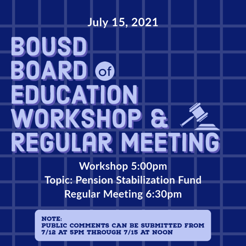 Workshop and Board Meeting July 15