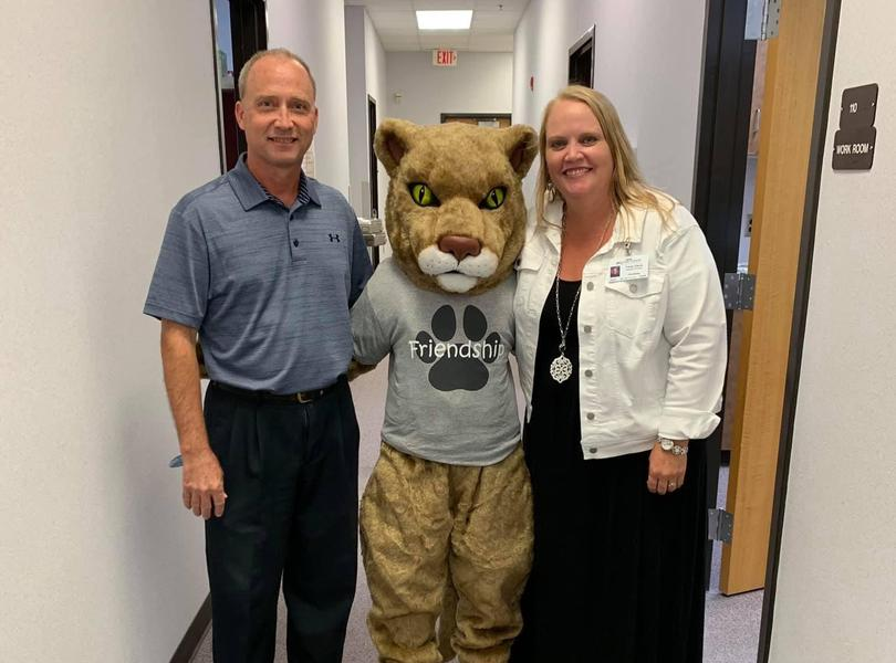 Cooper the Cougar visits Friendship