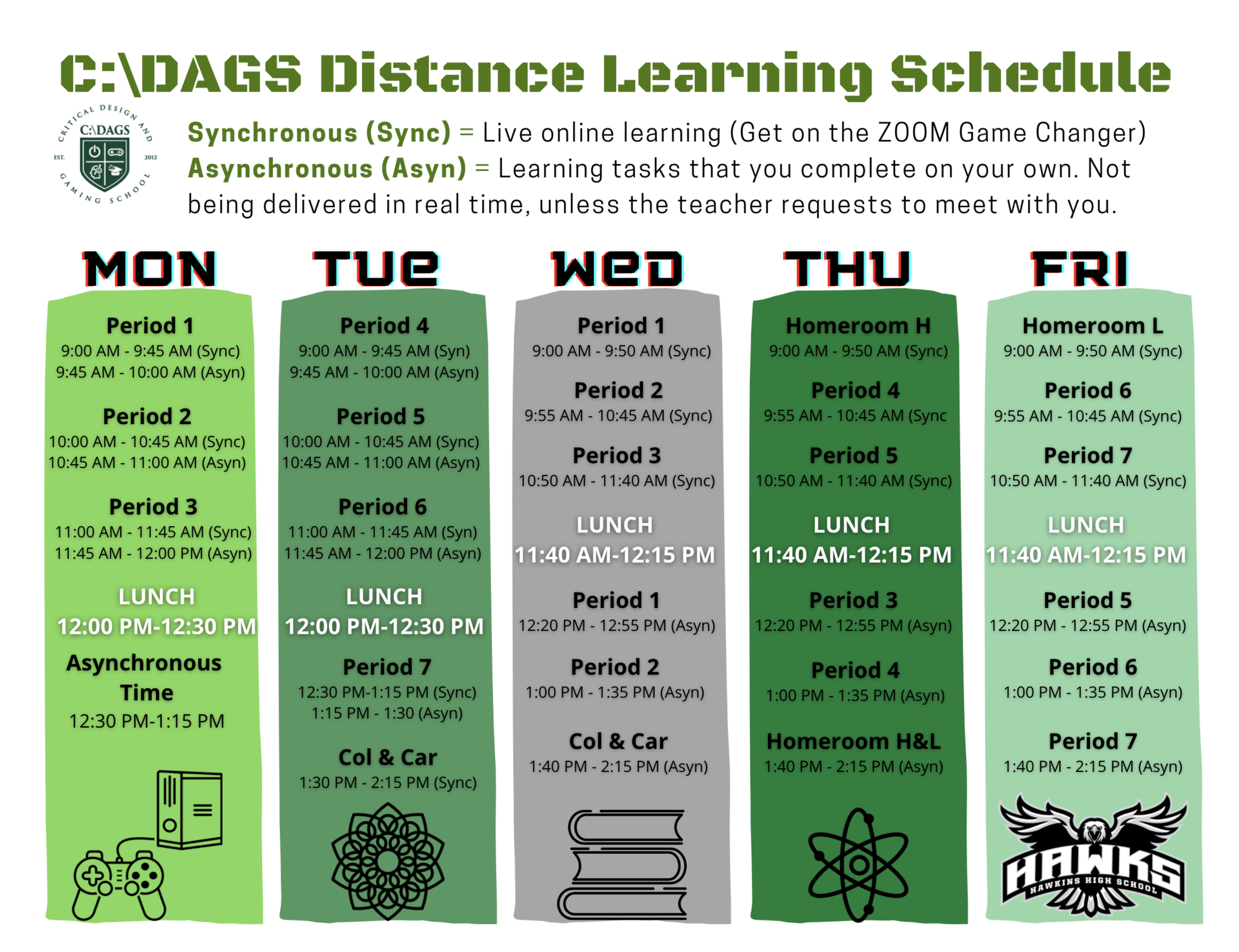 CDAGS Distance Learning Schedule