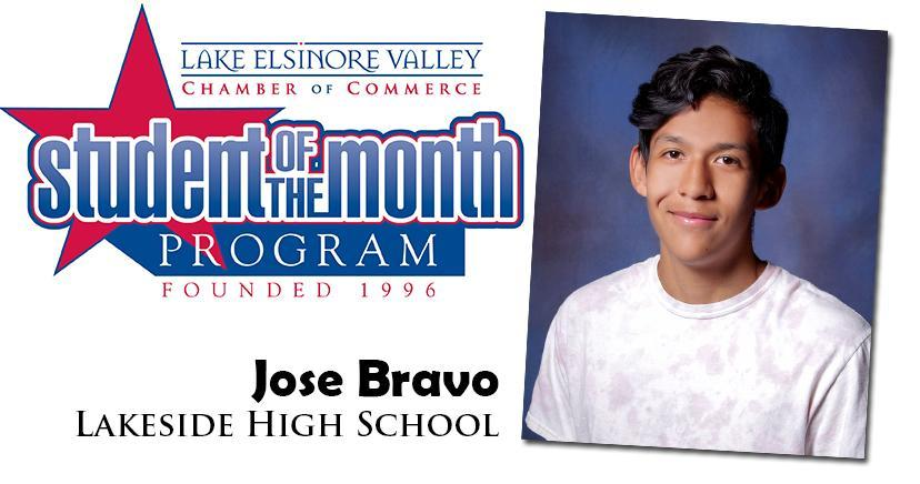Jose Bravo, LHS Student of the Month, November 10, 2020.