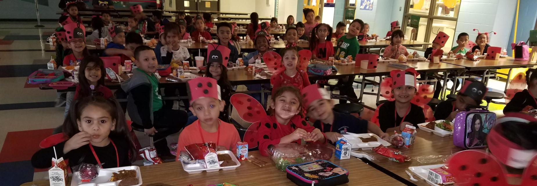 Kinder kids dress up as lady bugs