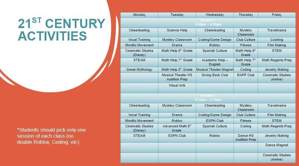 21st Century Activities
