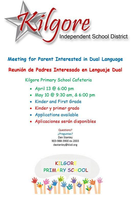 Dual Language Program - Information Meetings Scheduled Featured Photo