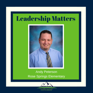 Andy Peterson, Rose Springs Elementary principal