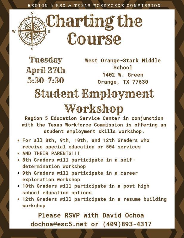 Student Employment Workshop