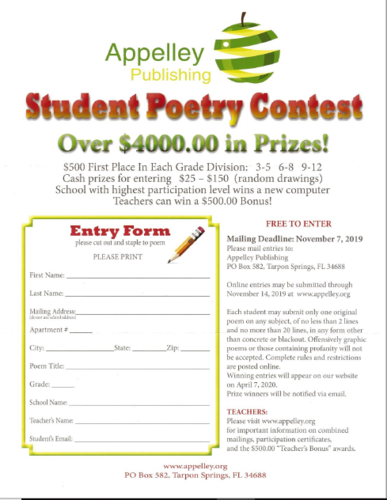 Poetry Contest Form