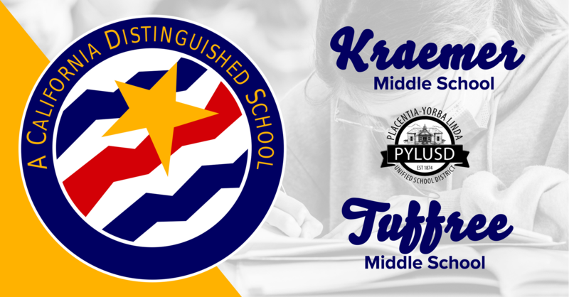 Kraemer and Tuffree = CA Distinguished Schools.