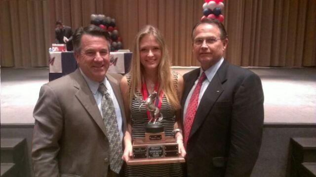 Dr Domene, Principal Flynn, and Mustang of the Year