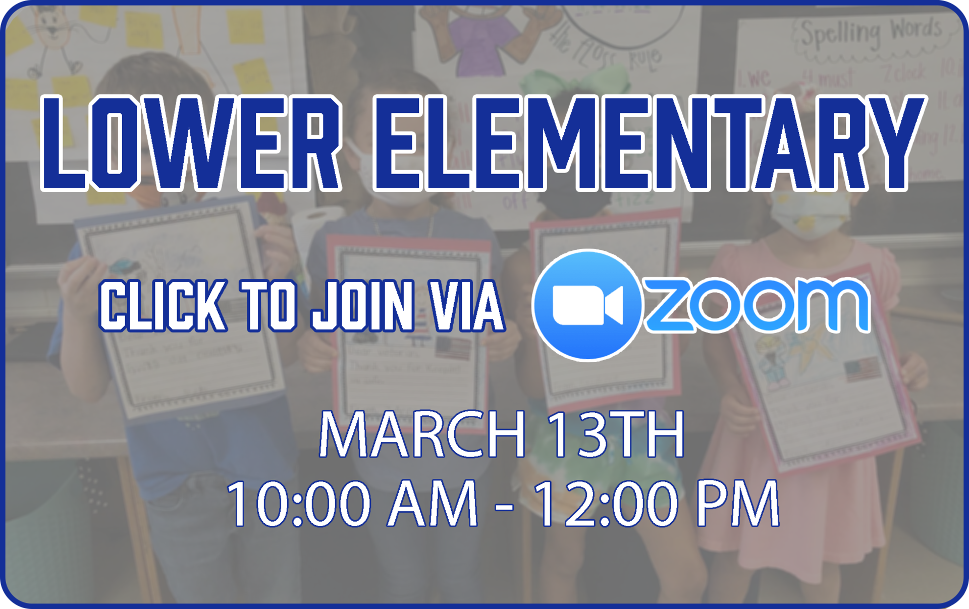 Lower Elementary Zoom Link
