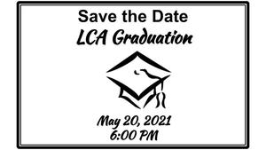 Save the date with graduation cap