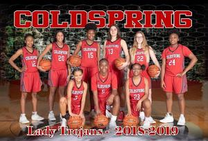 Lady Trojans Varsity Basketball Team Photo