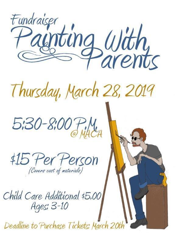 Painting with Parents flyer