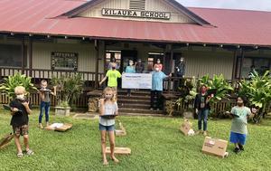 Chromebook donation from Kaua'i  North Shore Clubs.