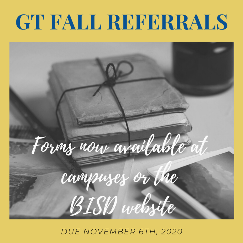 GIfted & Talented Fall Referrals Featured Photo