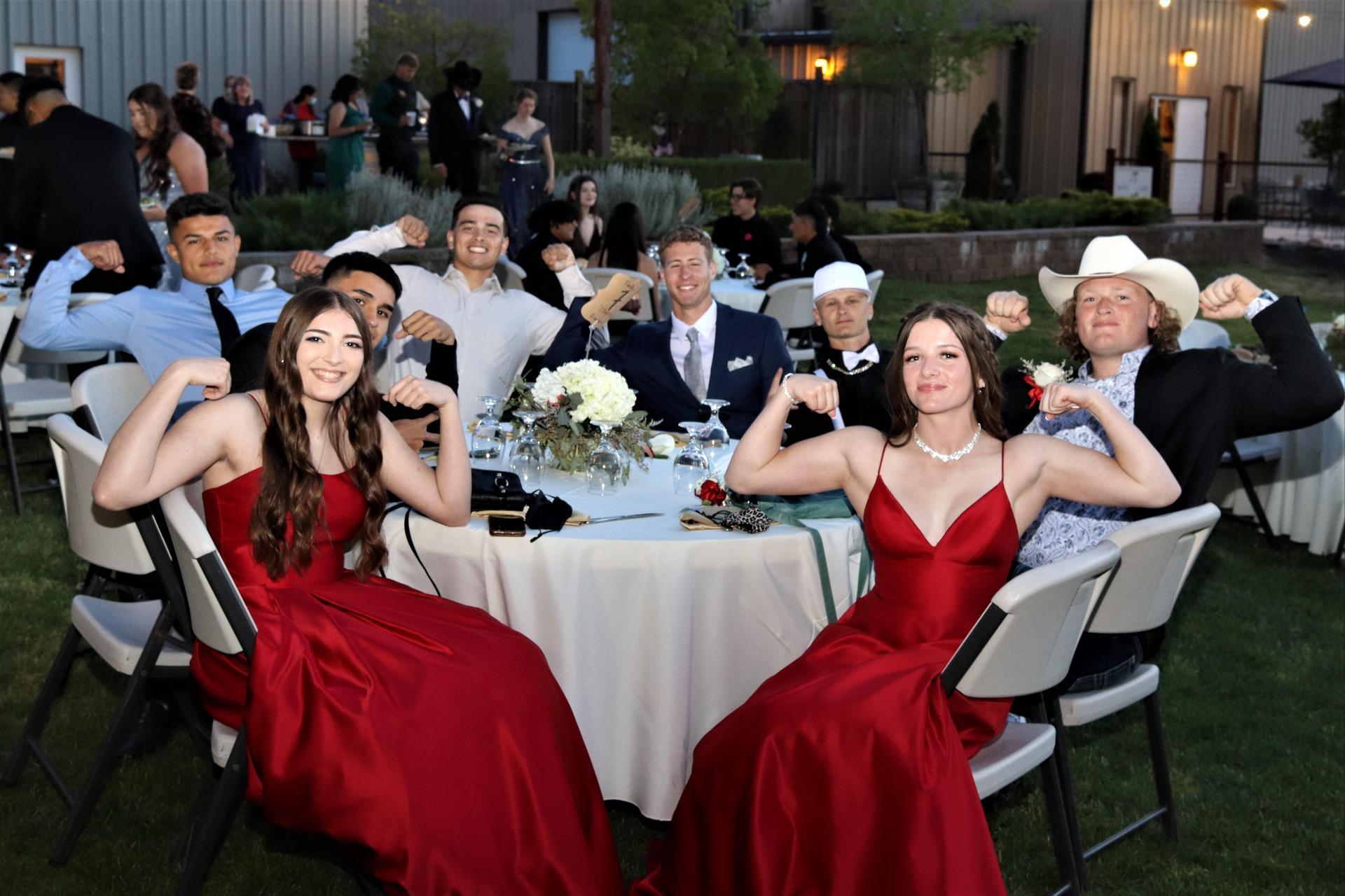 students enjoying prom